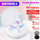 TWS Wireless Bluetooth5.0 Headset Waterproof Auto Pairing Touch Stereo Earbuds