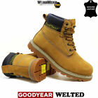 Mens Leather Safety Boots Steel Toe Cap Work Hiking Dealer Shoes Ankle Trainers