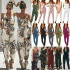 Women's Long Playsuit Jumpsuit Summer Beach Romper Holiday Casual Trousers Pants