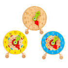 Cute Sorting Toy Wooden Teaching Clock for Kids Boys and Girls