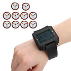 SU-C04 Wireless Cafe Calling System Coaster Pager Watch 10 Pagers for Restaurant