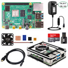 Raspberry Pi 4B 8G RAM DIY Kit 9-layer Case Fan 5V 3A Power SD Card Heat-sink