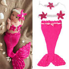 Newborn Baby Infant Costume Mermaid Style Photography Props Headband Outfit