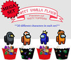 Among Us Computer Game Pc Birthday Party Cupcake Cake Topper Cup Cake 24 Toppers