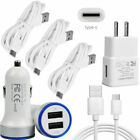 For Samsung Galaxy S10e S9 S8 S10 Plus Home Adapter Wall Car Charger USB C Cable