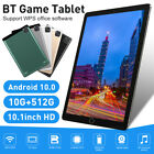 """2021 10.1"""" Wifi Tablet 8/10+512g Pad Pc Game Tablet 10 Core Gps + Dual Camera"""