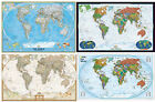 2014 WORLD WALL MAPS POSTERS MURALS - by NATIONAL GEOGRAPHIC