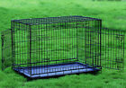"42"" Large 2 Door Dog Crate Cat Cage Kennel w/Divider Lab Retriever Boxer Poodle"