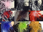 2 Tone Ostrich Feather Puff Hair Clip Brooch Lapel Pin