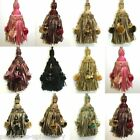 Luxury Bead Ribbon Pom Pom Key Tassel - Curtain Fabric