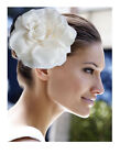 "6.3"" Big Silk Hair Flower Clip Wedding Party Bridal"