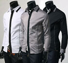 SlimFit Sexy Stylish Line Patched Casual Shirts CC1718