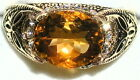 Men's Natural Citrine Solitaire Ring November Stone