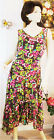 ANNE KLEIN 2pc BROWN MULTI COLOR FLORAL SUNDAY CHURCH EVENING 8 14 DRESS NEW
