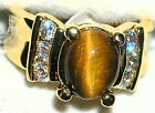 Women's Tiger's Eye & Topaz Ring  21123