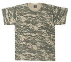 T Shirt Mens ACU Digital Camouflage Tee Military Camo