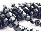 BLACK ONYX ROUND LANTERN GEMSTONE BEADS