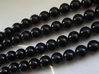 A GRADE BLACK ONYX ROUND GEMSTONE BEADS 4mm, 6mm, 8mm, 10mm & 12mm