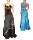 Formal Dress Gown Blue Black Size 10 12 14 16 18 20 22 24 New