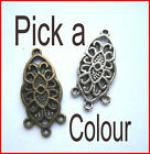 Celt ear hangers/pendants/connectors x 6. Pick a colour