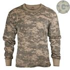 T Shirt Long Sleeve ACU Digital Army Combat Camouflage