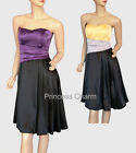 Princess Charm Cocktail Evening Dress Black/Purple Black/Yellow Size 12-26 New