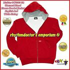 Dickies Mens TW6303 Hoodie Zip Front Sweatshirt Thermal Lined Hooded Jacket Red