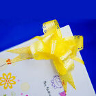 "New 1.2"" Lace Pull Flower Ribbon Bow Gift Wrap 50pcs"