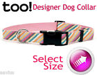 Too! Pink Canvas Designer Dog Collar for ID Leash 76441
