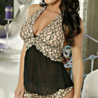 Skin Tone and Black Lace Halter Neck and Chiffon Lingerie Top #STCH-B