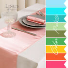 """15 pieces 12""""x108"""" Satin Table Runner Wedding Party Banquet Decoration COLORS"""