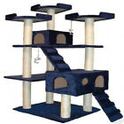"72"" Cat Tree House Scratcher Post Furniture F2040-Blue"