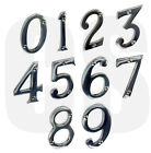 """New 3"""" / 75mm Chrome Front House Door Numerals Numbers"""