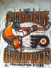 STARTER 1997 PHILADELPHIA FLYERS EASTERN CONFERENCE CHAMPIONS WHITE TEE SHIRT $9.99 USD on eBay