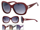 New Fashion Sunglasses Dragonfly Design Grey Purple Red With Pouch UV400 NWT