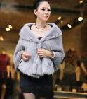 100% Real Genuine Knit Mink Fur Stole Cape Shawl Scarf Coat Ladies Winters New