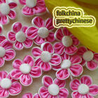 Hotpink Peach-Flow​er With 5 Petals 25mm Sewing Scrapbooking Appliques Trim JM6S