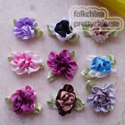 Mixed Polyester Duplex Flower Sewing Scrapbooking Appliques Trim Craft JM2065