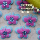 Blue Butterfly Overlay Appliques Padded Craft Sewing Scrapbooking Trim APQJ