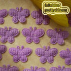 Purple Butterfly Appliques Padded Sewing Scrapbooking Trim Craft APQC