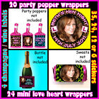 DIY Personalised LEOPARD PRINT Hen PARTY PACK Stickers Wine Sweet Popper Labels