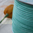 "3mm 1/8"" Teal Velvet Ribbons Craft Sewing Trimming Scrapbooking #50"