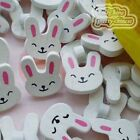 White Cute Rabbit Wood Buttons 18mm Sewing Craft Scrapbooking CWB014