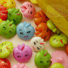 Assorted Fruit Face 15mm Plastic Buttons Sewing Scrapbooking Cardmaking AFB