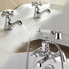 Traditional Chrome Bathroom Tap - Sink Basin Mixer Bath Filler Hand Held Shower