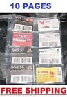 [ 10 ] - 8 POCKETS PAGES COUPONS SLEEVES BINDERS HOLDERS ORGANIZERS - COUPONING