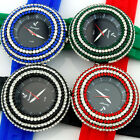 NEW Ladies Rubber Crystal Fashion Woman Bling Bling Vogue Watch 4 Color With Box
