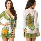 * BEACH COVER UP * SHEER * Mini Dress * SARONG BIKINI COVER UP resort wear