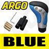 More images of BLUE BLACK CHROME LEATHER GEAR SHIFT STICK LEVER KNOB MITSUBISHI SPACE RUNNER