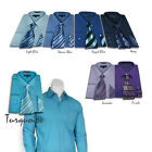 Men's Milano Moda Dress Shirt with Matching Tie and Handkerchief Set sty-201